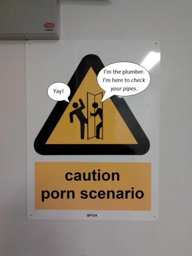 caution porn scenario